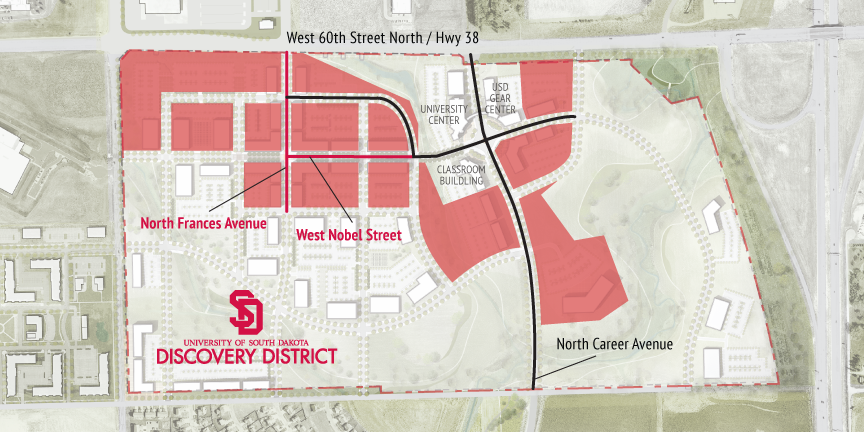 Usd Vermillion Campus Map.Usd Discovery District